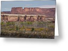 Autumn Colors On The Green River Greeting Card