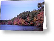 Autumn Colors On The Lake Greeting Card