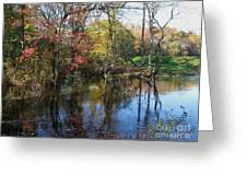 Autumn Colors On The Pond  Greeting Card