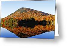Autumn Colours Reflected In Water Greeting Card