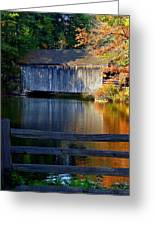 Autumn Crosses The Bridge - Greeting Card Greeting Card