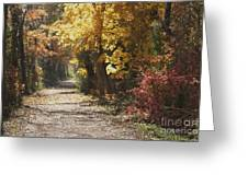 Autumn Dreams With Texture Greeting Card