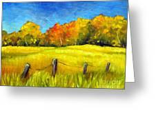 Autumn Farm Field Greeting Card