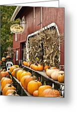 Autumn Farm Stand  Greeting Card