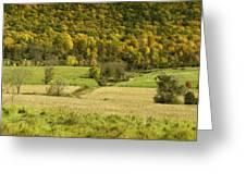 Autumn Farm Vista Greeting Card