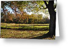 Autumn Field In Pennsylvania Greeting Card