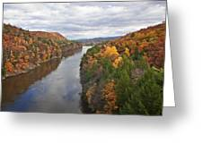 Autumn Foliage Scenery Viewed From French King Bridge Greeting Card