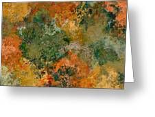 Autumn Forest Tree Tops Abstract Greeting Card