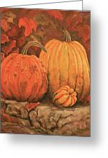 Autumn Harvest Greeting Card by Peggy McMahan
