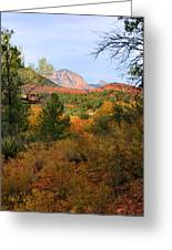 Autumn In Red Rock Canyon Greeting Card