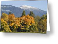 Autumn In The Illinois Valley Greeting Card