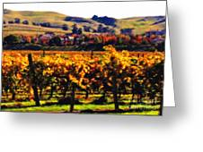 Autumn In The Valley 2 - Digital Painting Greeting Card