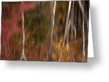 Autumn In Water Color Greeting Card