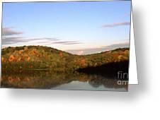 Autumn Lake Panoramic Greeting Card