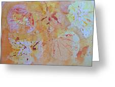 Autumn Leaf Splatter Greeting Card