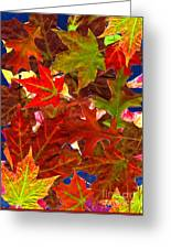 Autumn Leaves Collage Greeting Card