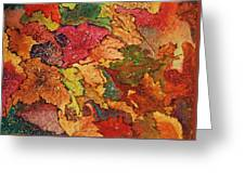 Autumn Leaves Greeting Card by Terry Jackson