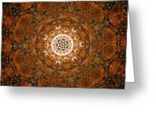 Autumn Mandala 3 Greeting Card
