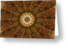Autumn Mandala 4 Greeting Card