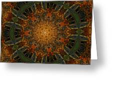 Autumn Mandala 6 Greeting Card