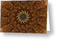 Autumn Mandala 7 Greeting Card