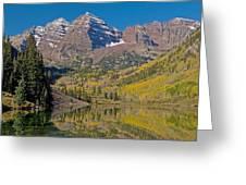 Autumn Maroon Bells Greeting Card