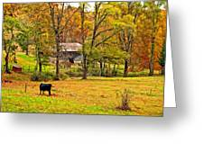 Autumn Moment Paint Greeting Card