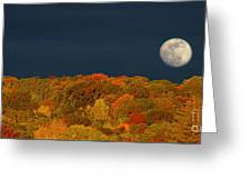Autumn Moon Morning Greeting Card