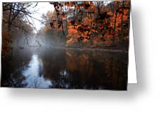 Autumn Morning By Wissahickon Creek Greeting Card