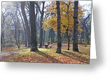 Autumn Morning Munson Park  Greeting Card