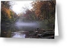 Autumn Morning On The Wissahickon Greeting Card