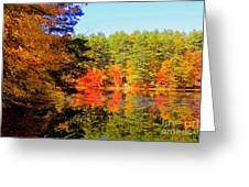 Autumn  Mosiac Greeting Card