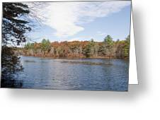 Autumn On Mill Pond Greeting Card