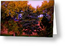 Autumn On The Fairway Greeting Card