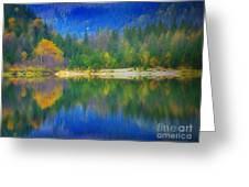 Autumn Reflected 2 Greeting Card