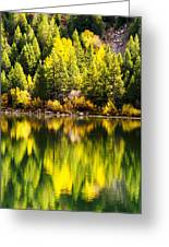 Autumn Reflection In Georgetown Lake Colorado Greeting Card