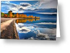 Autumn Reflections In October Greeting Card