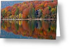 Autumn Reflections On Lake Bohinj In Slovenia Greeting Card