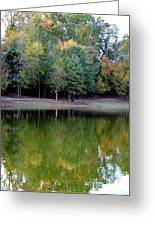 Autumn Reflections Upon Dark Waters Greeting Card