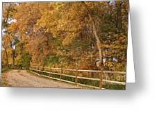 Autumn  Road To The Ranch Greeting Card