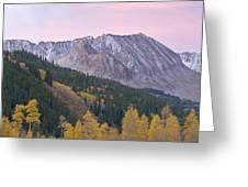 Autumn Rocky Mountains Greeting Card