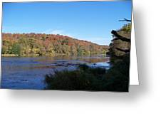 Autumn Scenery Along The Grand River Greeting Card