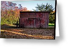 Autumn Shed Greeting Card
