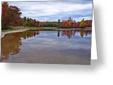 Autumn Shoreline Greeting Card