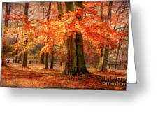 autumn skirt I Greeting Card