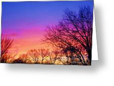 Autumn Sky Greeting Card