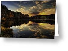 Autumn Sunset 2 Greeting Card