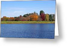 Autumn Trees By The Lake Greeting Card
