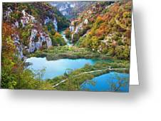 Autumn Valley Landscape Greeting Card