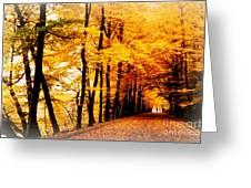Autumn Walk In Belgium Greeting Card